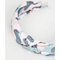 Girls Multicoloured Camo Knot Headband New Look