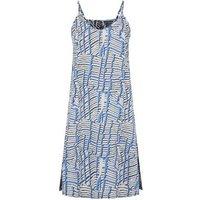 Noisy May Blue Line Print Slip Dress New Look