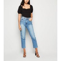 Urban Bliss Black Puff Sleeve Ruched Bodysuit New Look