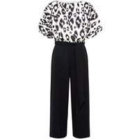 Off White Leopard 2 in 1 Batwing Jumpsuit New Look