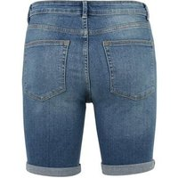 Blue Mid Wash Ripped Denim Shorts New Look