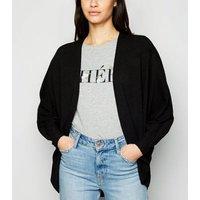 Black Fine Knit Batwing Cardigan New Look
