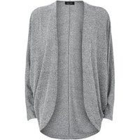 Pale Grey Fine Knit Batwing Cardigan New Look