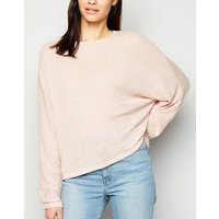 Mid Pink Fine Knit Batwing Jumper New Look