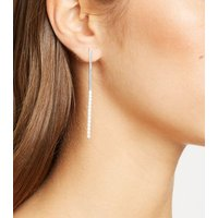 Affinity Silver Plated Cubic Zirconia Drop Earrings New Look