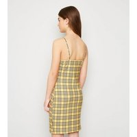 Girls Mustard Check Dress New Look