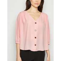 Cameo Rose Pale Pink Button Up Blouse New Look
