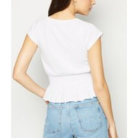 White-Shirred-Hem-Square-Neck-Top-New-Look
