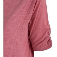 Maternity Mid Pink Wrap Nursing Top New Look
