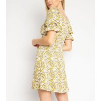 Another Look Yellow Floral Dress New Look