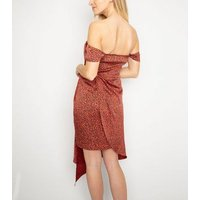 Another-Look-Red-Leopard-Print-Bardot-Dress-New-Look
