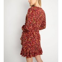 Another-Look-Red-Floral-Frill-Wrap-Dress-New-Look