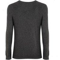 Dark Grey Fine Knit Crew Jumper New Look