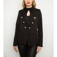 Cutie London Black Double Breasted Blazer New Look