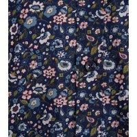 Jack & Jones Navy Floral Long Sleeve Shirt New Look