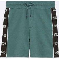 Jack & Jones Teal Logo Jersey Shorts New Look