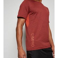 GymPro Red Mesh Panel T-Shirt New Look