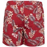 Jack & Jones Dark Red Tropical Swim Shorts New Look