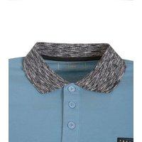 Jack & Jones Pale Blue Contrast Collar Polo Shirt New Look