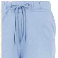 Pale Blue Jersey Tie Waist Shorts New Look