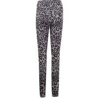 Grey Leopard Print Sports Leggings New Look