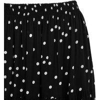 Black Spot 3 Tiered Midi Skirt New Look