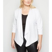 Just Curvy White Waterfall Jacket New Look