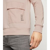 Pink Pocket Front Crew Neck Sweatshirt New Look