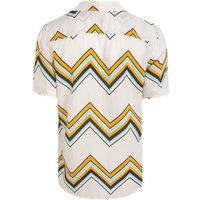 Only & Sons Blue Zig Zag Short Sleeve Shirt New Look