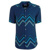 Only & Sons Navy Zig Zag Short Sleeve Shirt New Look