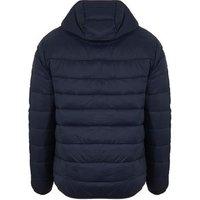 Men's Jack & Jones Navy Hooded Puffer Jacket New Look
