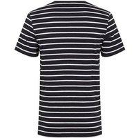 Jack & Jones Navy Stripe Crew Neck T-Shirt New Look