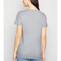 Grey Marl Team Bride Glitter Slogan T-Shirt New Look