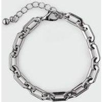 Silver Chain Link Bracelet New Look