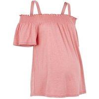 Maternity Mid Pink Bardot Top New Look