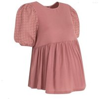 Maternity Rust Broderie Puff Sleeve Top New Look