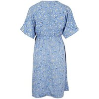 Maternity Pale Blue Daisy Wrap Dress New Look