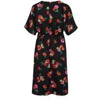 Maternity Black Floral Wrap Dress New Look