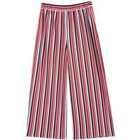 Girls Red Stripe Scuba Crop Trousers New Look