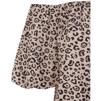 Pale Pink Leopard Print Bardot Top New Look