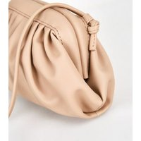 Camel Leather-Look Mini Pouch Bag New Look