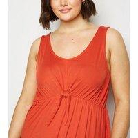 Vero-Moda-Curves-Red-Tie-Front-Midi-Dress-New-Look