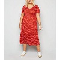 Vero-Moda-Curves-Red-Spot-Midi-Dress-New-Look