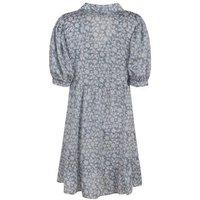 Blue-Vanilla-Blue-Floral-Puff-Sleeve-Mini-Dress-New-Look