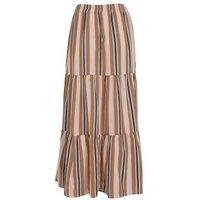 JDY Black Stripe Tiered Maxi Skirt New Look