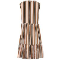 JDY Cream Stripe Tiered Hem Dress New Look