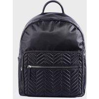 Black Quilted Backpack New Look Vegan