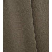 Khaki Herringbone Wide Leg Trousers New Look
