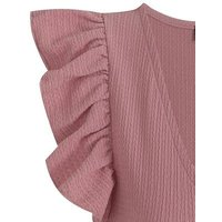 Mid Pink Frill Sleeve Textured Bodysuit New Look