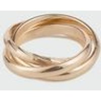 Gold Interlocking Twist Ring New Look